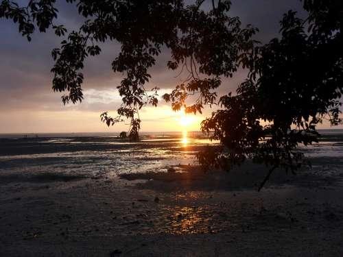 Philippines Beach Matalom Sunset