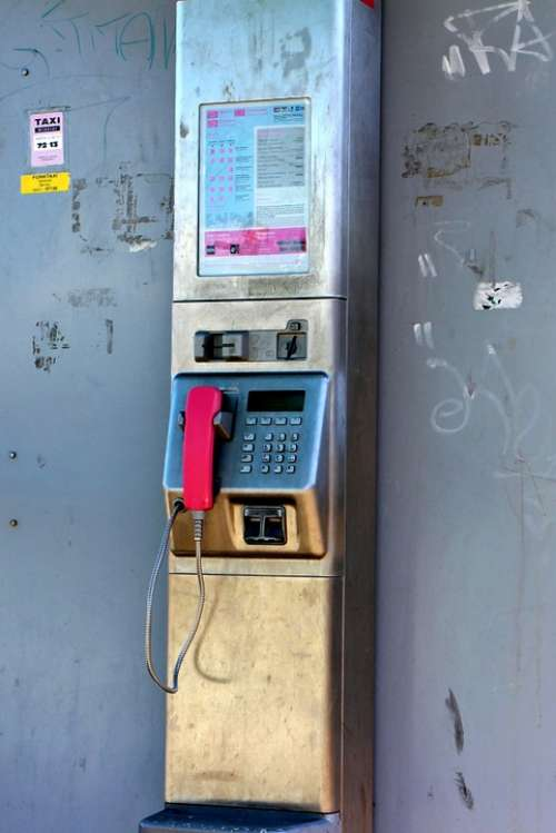 Phone Communication Connection Public Phone Booth
