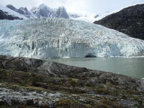 Pia Glacier Ice Glacial Nature