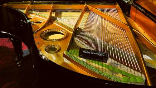 Piano Strings Strings Piano Music Instrument