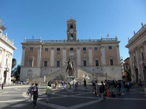 Piazza Del Campidoglio Rome Italy Building
