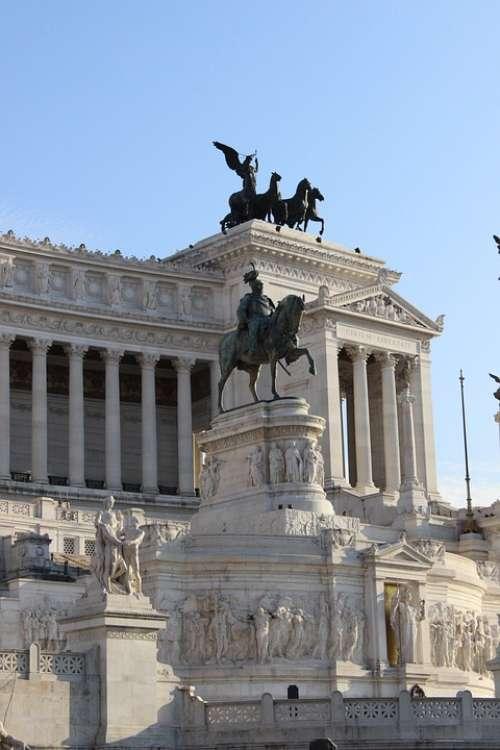 Piazza Venezia Rome Monument Italia