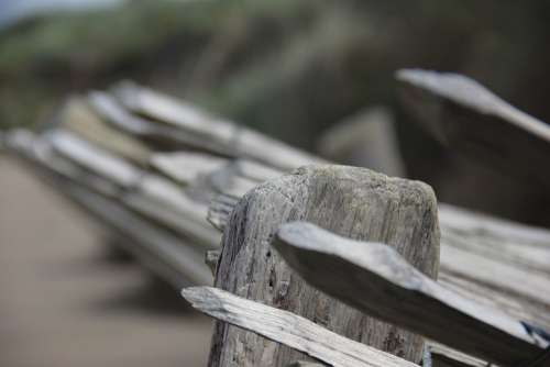 Picket Fence On Beach Sand Beach Ireland
