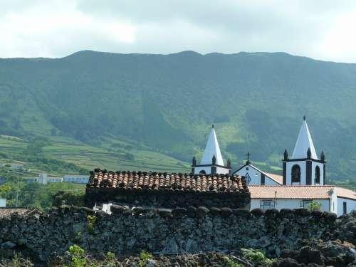 Pico Azores Travel Church Landscape