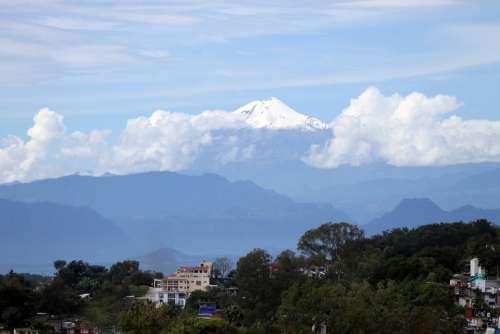 Pico De Orizaba Veracruz Mexico Sky Landscapes