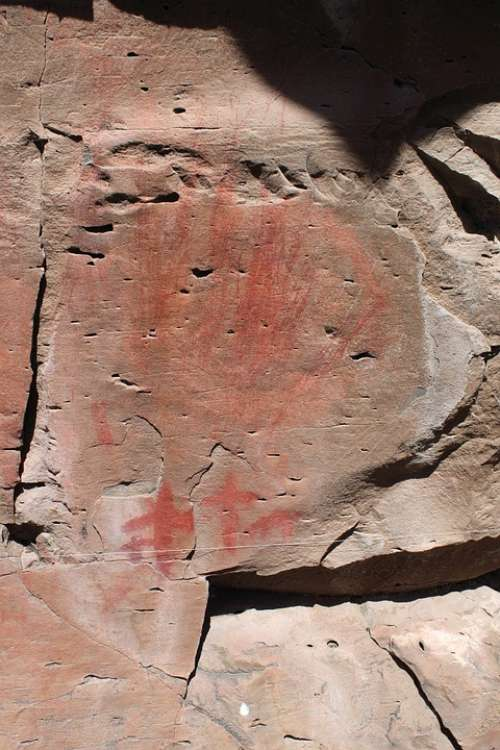 Pictograph Rock Art Drawing Native American