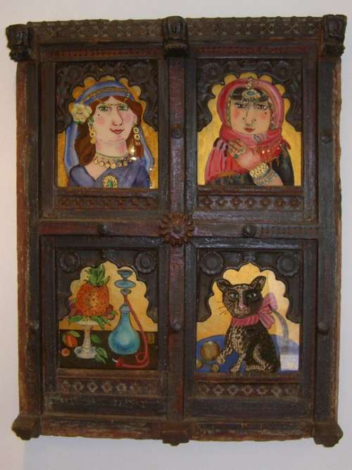 Picture Frame Wood Decorated Carving Frame Image