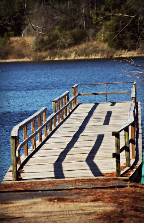 Pier Wooden Water Wooden Pier Calm Quiet Relaxing