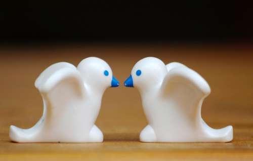 Pigeons Figures Playmobil Couple Birds Tender
