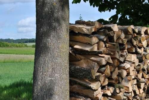 Pile Of Wood Wood Storage Stack Lumber Sawn