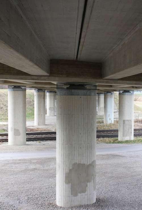 Pillar Bridge Road Construction High Bridge