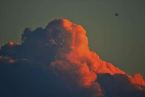 Pink Cloud Cloud Cumulus Pink Large Dense Sky