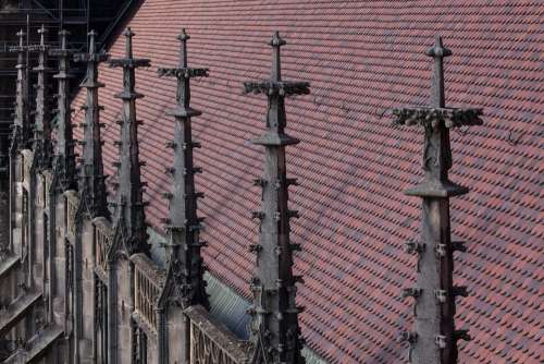 Pinnacles Over The Nave Ranking Roof Gothic