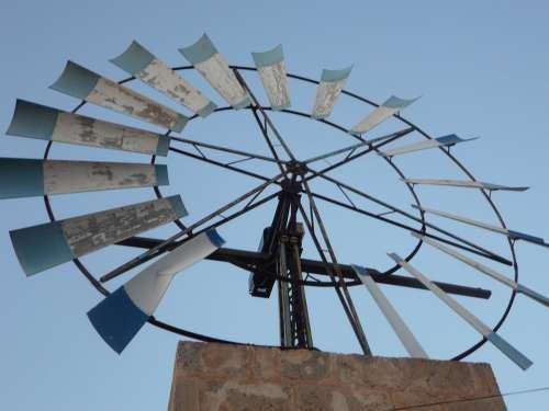 Pinwheel Wind Energy Mallorca Metal Wheel Wind