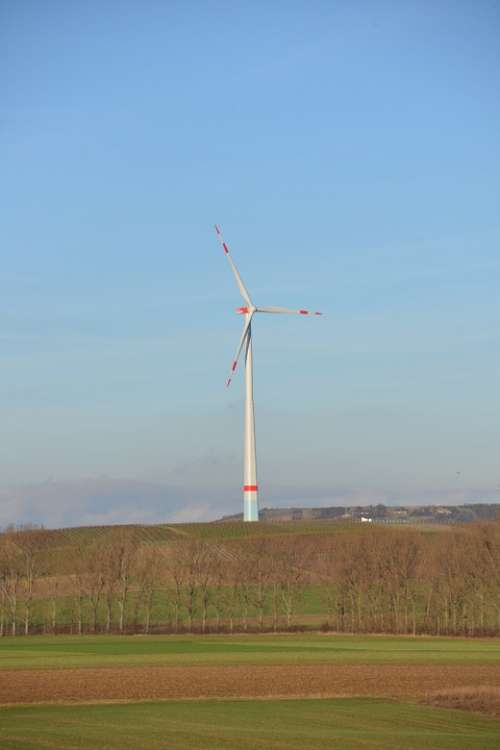 Pinwheel Energy Eco Energy Wind Power Sky Blue