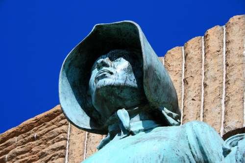 Pioneer Statue Statue Bronze Woman Family Pioneer