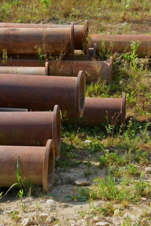 Pipes Meadow Old Rust Iron Nature