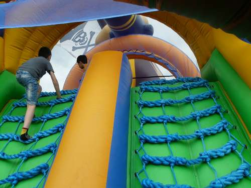 Pirate Ship Bouncy Castle Inflatable Colorful