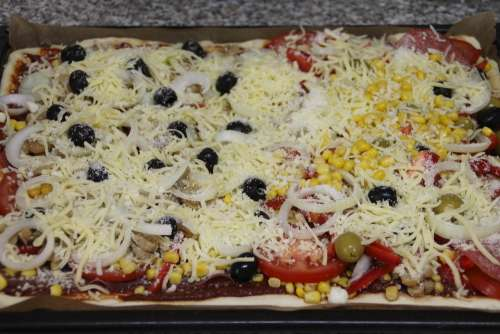 Pizza Cook Topping Bake Recipe Cheese