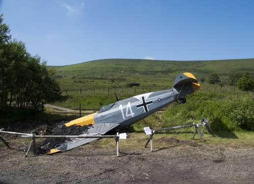 Plane Airplane Crash Military Blaenavon Mountain