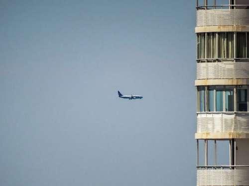 Plane Building Sky Windows Travel City Aircraft