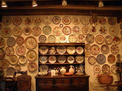 Plate Wall Container Ornament Europe