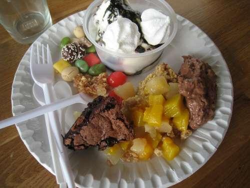 Plate Cutlery Ice Cream Beaker Dessert Candy