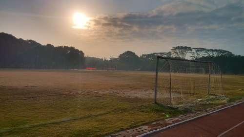 Playground Athletic Track Sunrise
