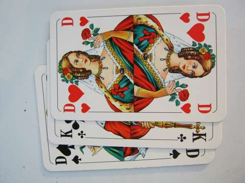 Playing Cards Heart Lady Skat