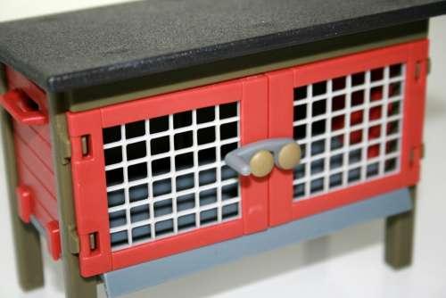 Playmobil Toys Rabbit Hutch Stall Easter Bunny