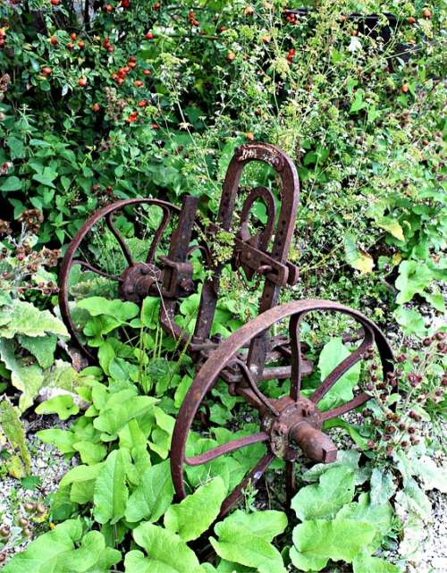 Plough Field Device Antique Old Farm Rusted