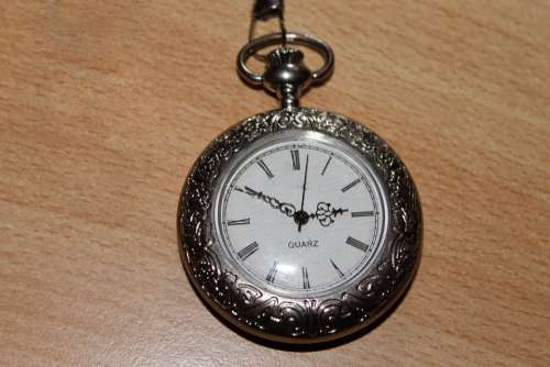 Pocket Watch Silver Timepiece Time Antique Wind Up