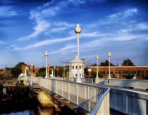 Pocomoke City Maryland Bridge Drawbridge Sky