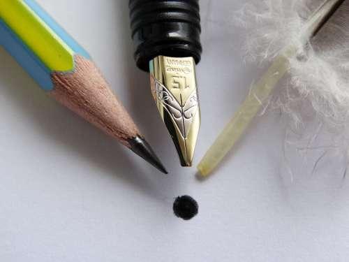 Point Three Pencil Fountain Pen Filler Feather