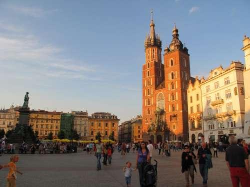 Poland Krakow Cathedral Rynek