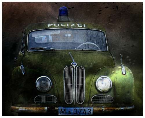 Police Car Oldtimer Movie Car Isar12 Auto Old