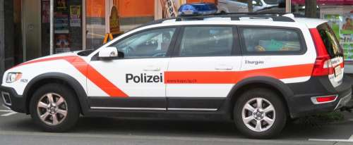 Police Car Blue Light Peace And Order Security