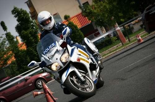 Police Officer Motorcycle Cop