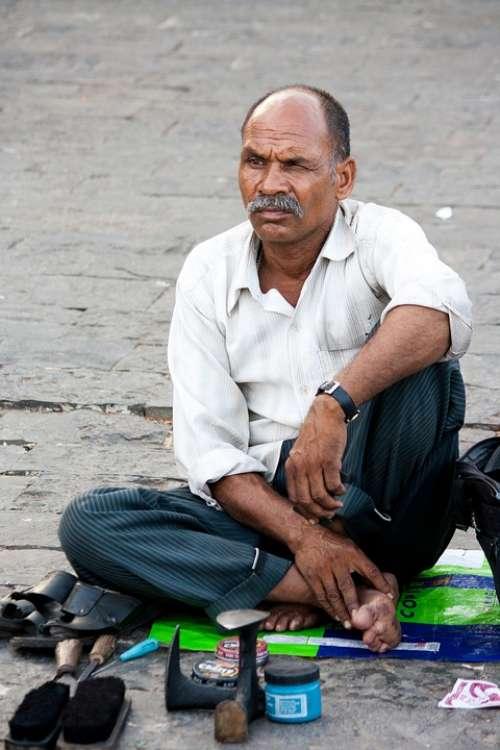 Polish Man Shoes India Street Work Indian People