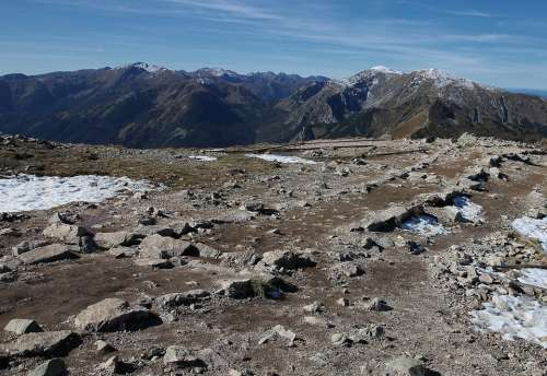Polish Tatras The Stones Rocks Mountain Path