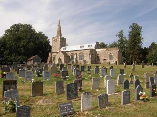 Polstead Church Churchyard Headstones Graveyard