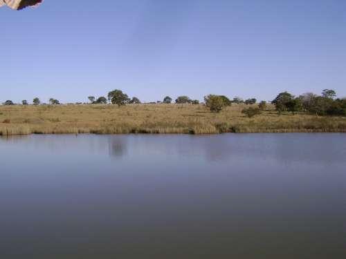 Pond Brazil Blue Lagoon Water Landscape