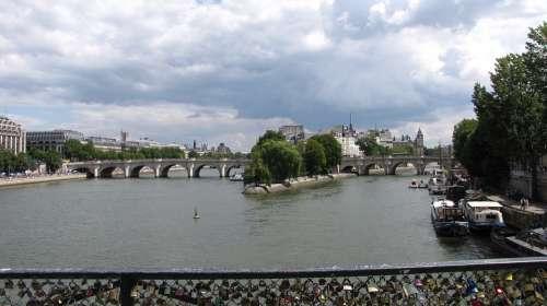 Pont Des Arts Monument Paris Architecture Promenade