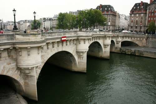 Pont Neuf Sanchez Paris Bridge Seine River