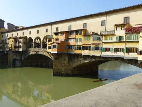 Ponte Vecchio Florence Bridge Old Architecture