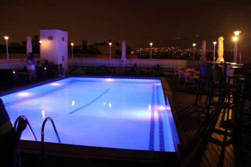 Pool Water Night Night Photo
