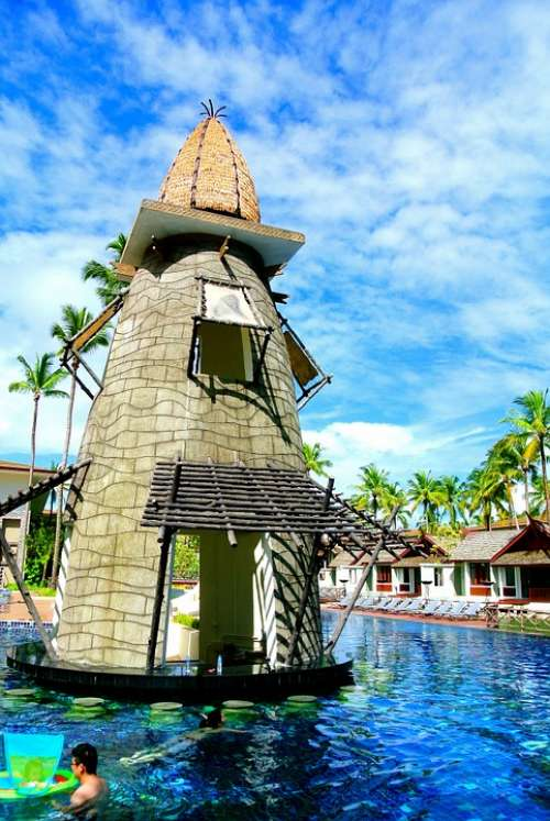 Pool Bar Swimming Pool Outdoor Pool Resort Thailand