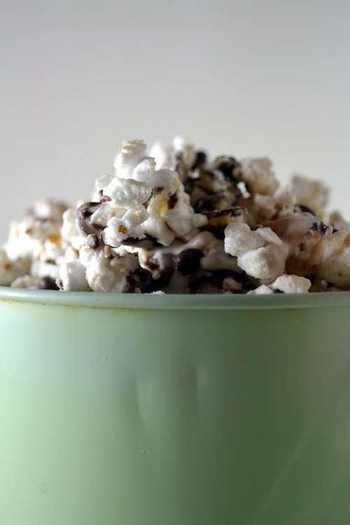 Popcorn White Yellow Food Foods Bowl Salty
