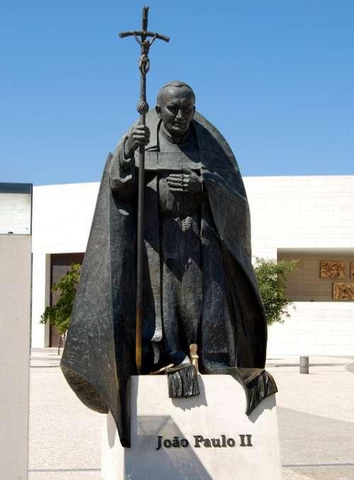 Pope Statue Giovanni Paolo According Bronze Fatima