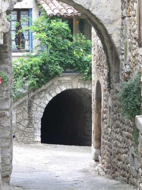 Porch Pedestrian Street Village Ardèche